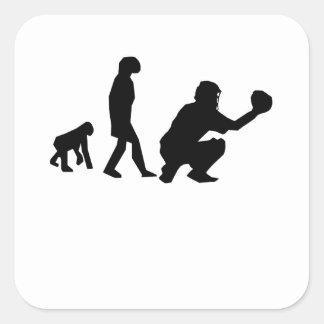 Baseball Evolution Square Sticker