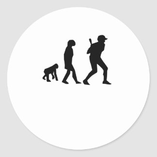 Baseball Evolution Round Sticker