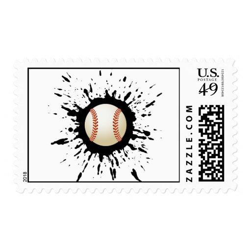 Baseball Explosion Stamp