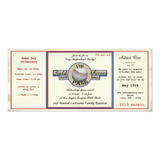 Baseball Family Reunion Pass Card