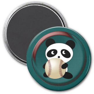 Baseball Fan 3 Inch Round Magnet