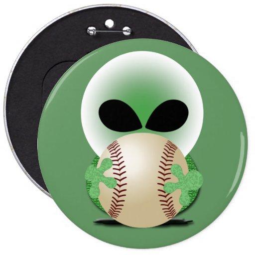 Baseball Fan 6 Inch Round Button
