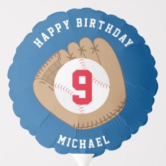 Baseball Fan Birthday Personalized Balloon