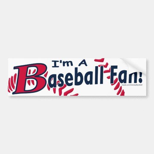 Baseball Fan Bumpersticker Bumper Sticker