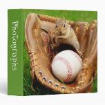 """Baseball Fan Chipmunk 1.5"""" Photo Album 3 Ring Binder"""