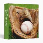 """Baseball Fan Chipmunk 1"""" Photo Album 3 Ring Binder"""