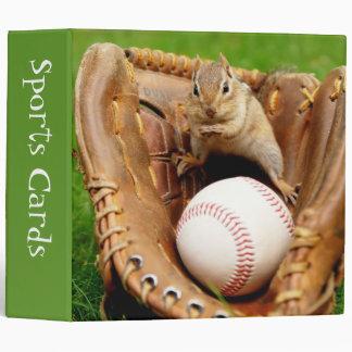 "Baseball Fan Chipmunk 2"" Sports Cards Binder"