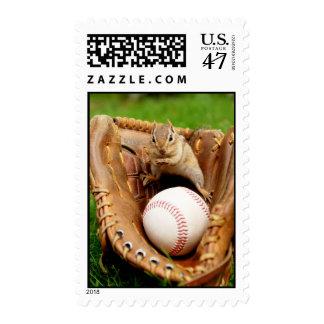 Baseball Fan Chipmunk Postage