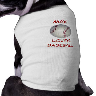 Baseball Fan Custom Name Canine Shirt