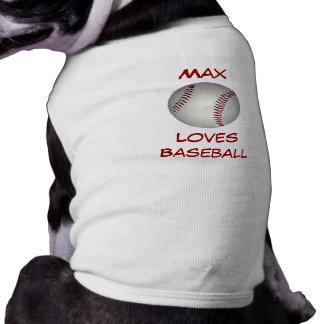 Baseball Fan Custom Name Canine Shirt