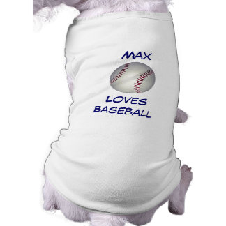 Baseball Fan Customizable Canine Name Tee