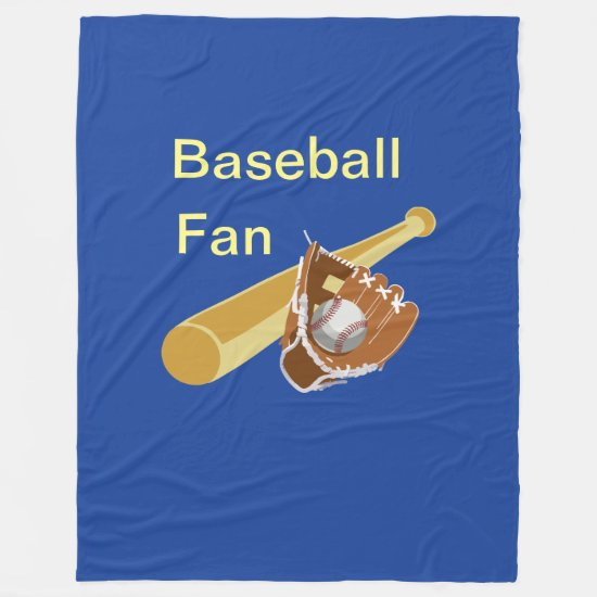 Baseball Fan Fleece Blanket