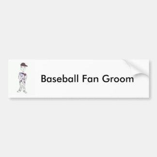 Baseball Fan Groom Bumper Sticker