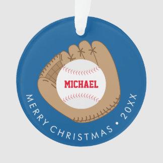 Baseball Fan Kids Photo Ornament