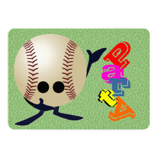 Baseball fan  party card