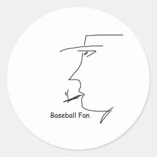 baseball_fan pegatina redonda