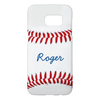 Baseball Fan Photo Gift Idea Personalized Name Samsung Galaxy S7 Case