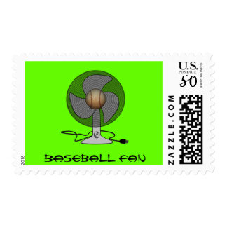 Baseball Fan Postage Stamps