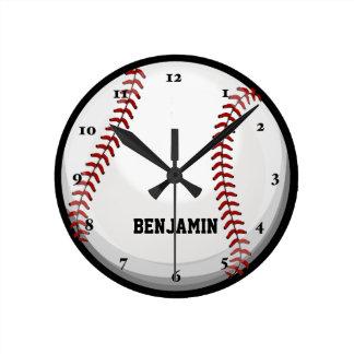Baseball Fan Round Clock