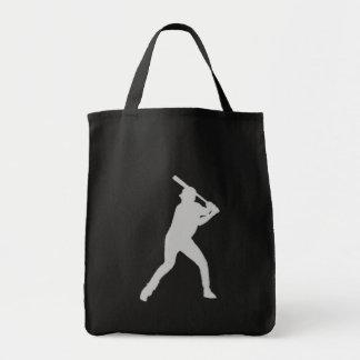 Baseball fan simple black reusable bag