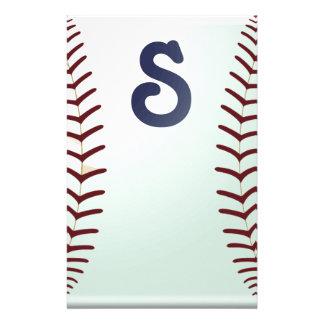 Baseball fan stationery