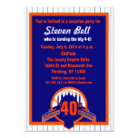 Baseball Fan Surprise Party Invitation