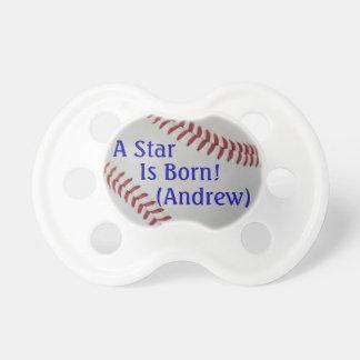 Baseball Fan-tastic_A Star is Born_personalized Pacifier
