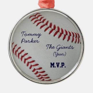 Baseball Fan-tastic_autograph-style medallion Metal Ornament