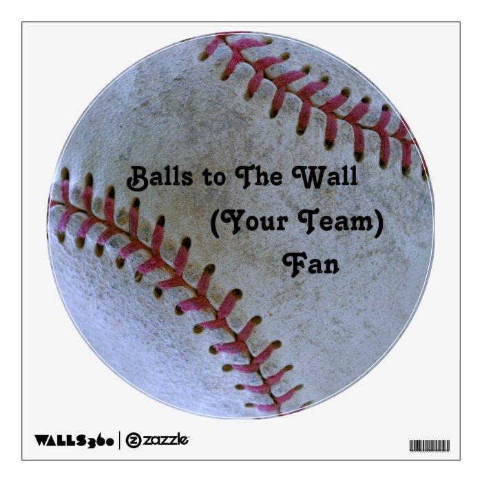 Baseball Fan-tastic_Balls to The Wall Fan Wall Decal