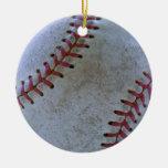 Baseball Fan-tastic_Battered Ball _autograph ready Christmas Ornament