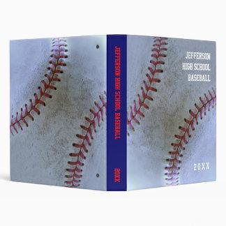 Baseball Fan-tastic_Battered Ball_personalized 3 Ring Binder