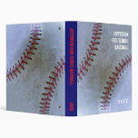 Baseball Fan-tastic_Battered Ball_personalized 3 Ring Binder