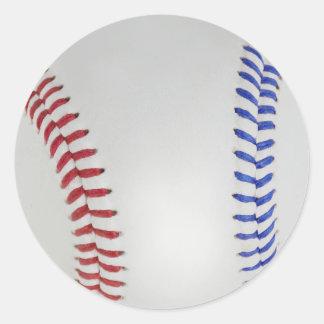Baseball Fan-tastic_Color Laces_All-American Round Sticker