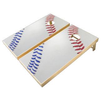 Baseball Fan-tastic_Color Laces_All-American_team Cornhole Set