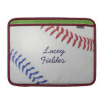 Baseball Fan-tastic_Color Laces_autograph style 2 MacBook Sleeves