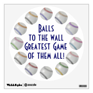 Baseball Fan-tastic_Color Laces_Balls to the Wall Wall Sticker