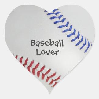 Baseball Fan-tastic_Color Laces_Baseball Lover Heart Sticker