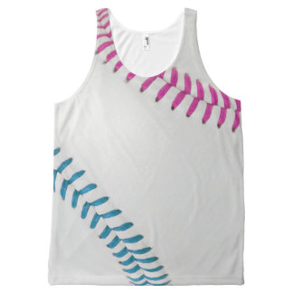 Baseball Fan-tastic_Color Laces_fu_tl_team spirit All-Over Print Tank Top