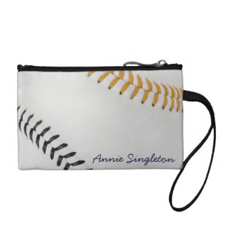 Baseball Fan-tastic_Color Laces_go_bk_personalized Coin Wallet