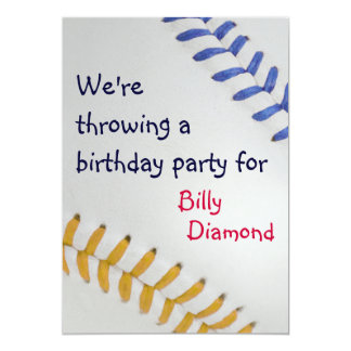 Baseball Fan-tastic_Color Laces_go_bl Party Card