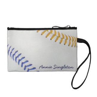 Baseball Fan-tastic_Color Laces_go_bl_personalized Coin Wallet