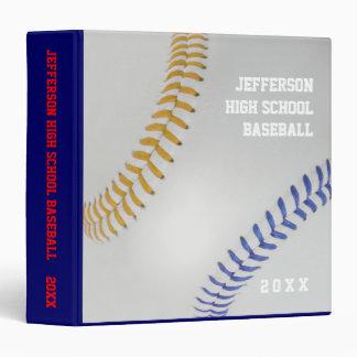 Baseball Fan-tastic_Color Laces_go_bl_personalized Vinyl Binders