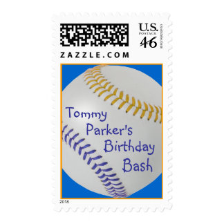 Baseball Fan-tastic_Color Laces_go_bl_personalized Stamp