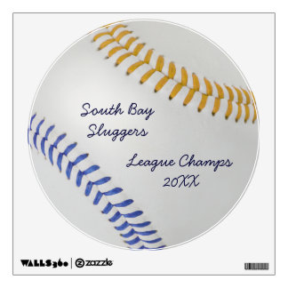 Baseball Fan-tastic_Color Laces_go_bl_personalized Room Decal