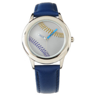 Baseball Fan-tastic_Color Laces_go_bl Watches