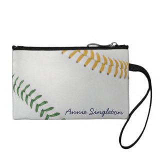 Baseball Fan-tastic_Color Laces_go_gr_personalized Coin Purse