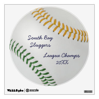 Baseball Fan-tastic_Color Laces_go_gr_personalized Wall Decal