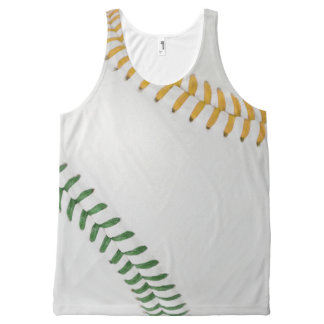 Baseball Fan-tastic_Color Laces_go_gr_team spirit All-Over Print Tank Top