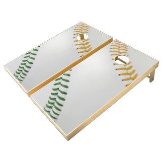 Baseball Fan-tastic_Color Laces_go_gr_team spirit Cornhole Set