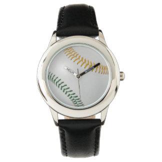 Baseball Fan-tastic_Color Laces_go_gr Wristwatch